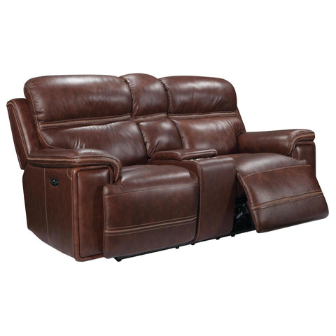 Fresno Power Reclining Loveseat w/ Power Headrest, Loveseat, Leather Italia - Adams Furniture