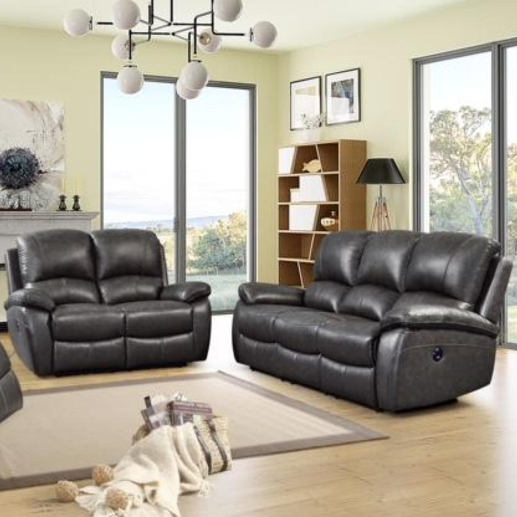 Jasmine Power Reclining Living Room Set, Living Room Set, Leather Italia - Adams Furniture