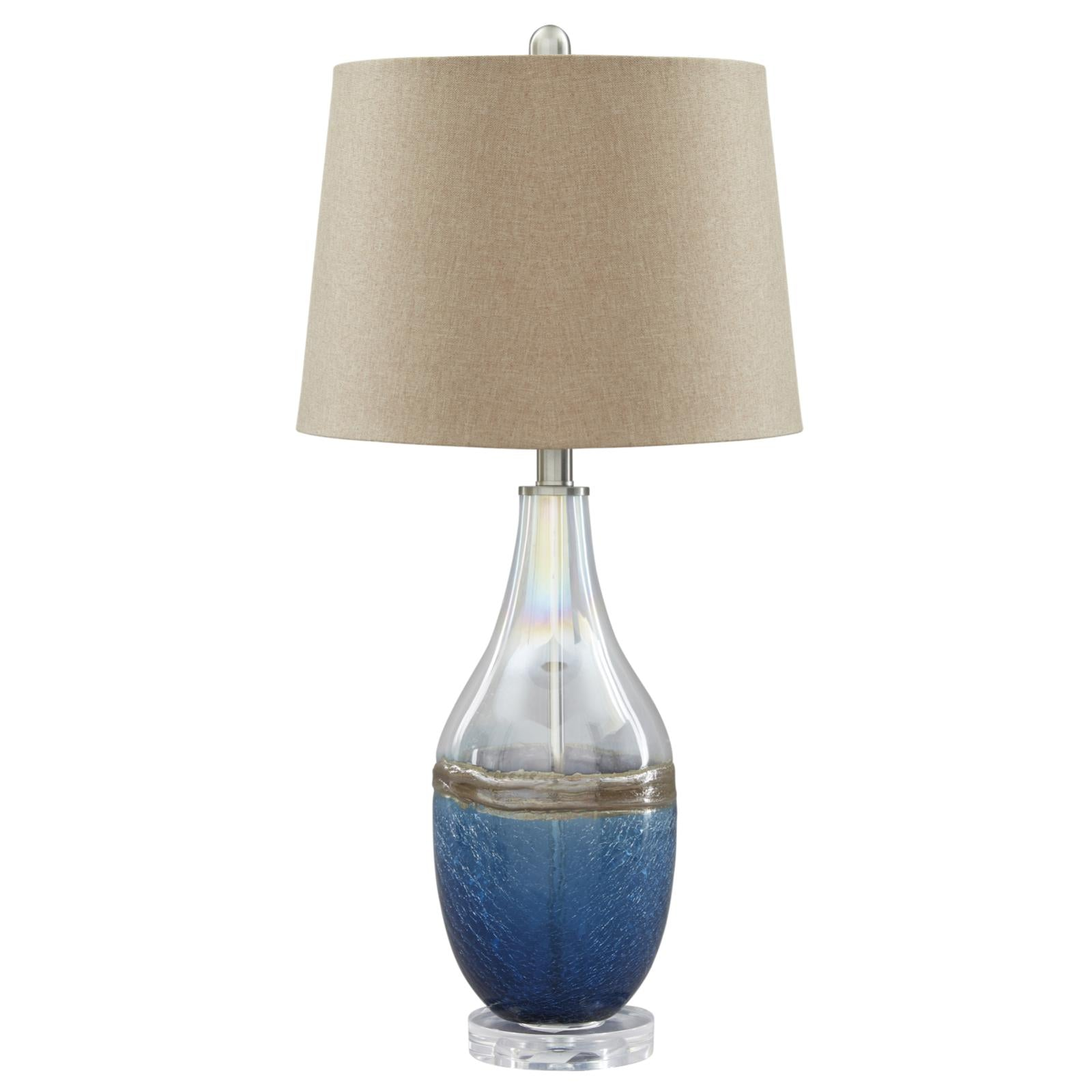 Johanna Blue Clear Glass Table Lamp Set Of 2