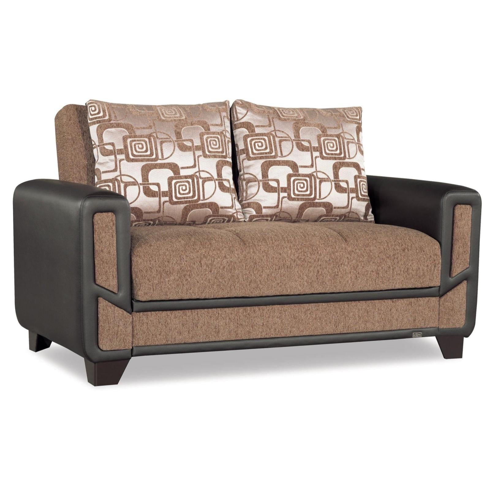 Mondo Brown Convertible Loveseat – Adams Furniture