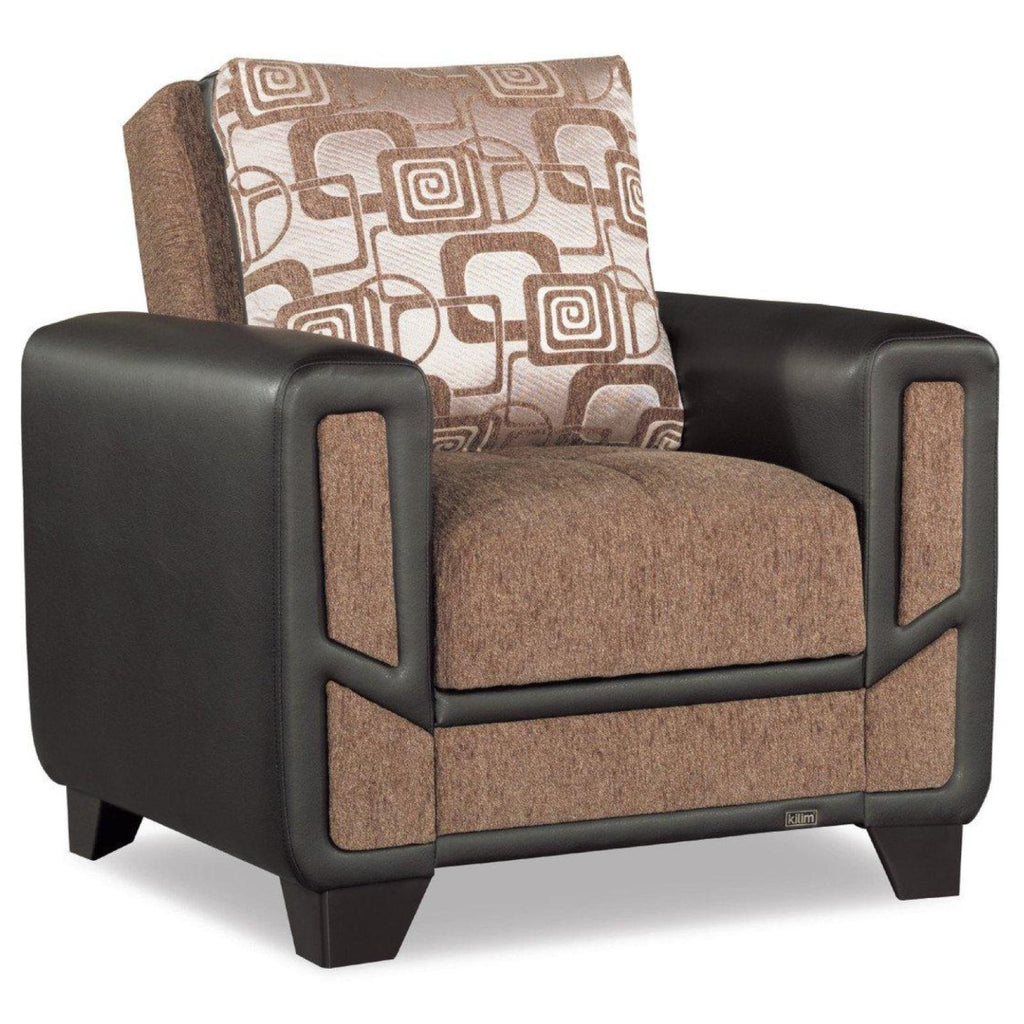 Mondo Brown Convertible Chair, Accent Chair, Rugnur - Adams Furniture