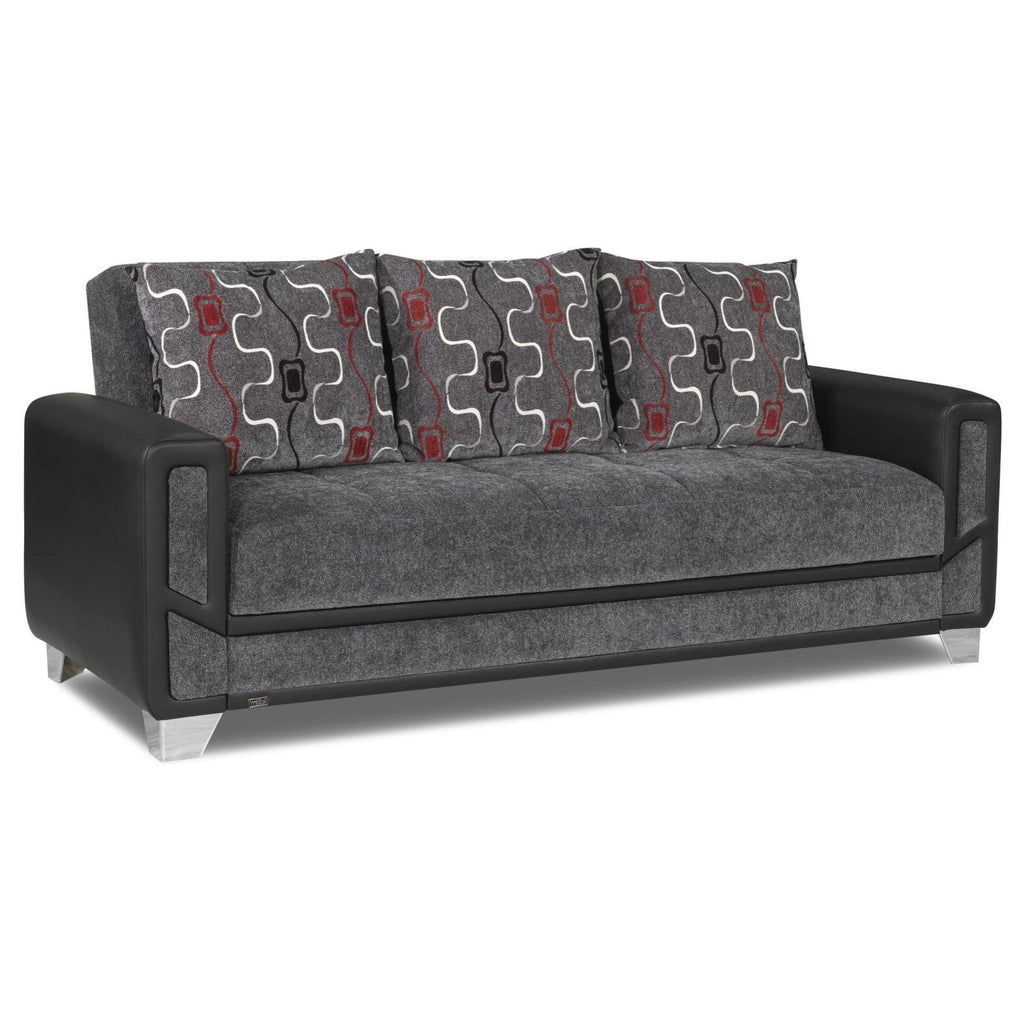 Mondo Grey Convertible Sofa, Sofa, Rugnur - Adams Furniture