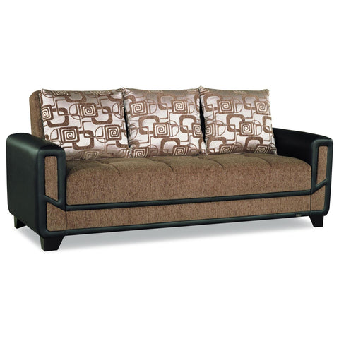Mondo Brown Convertible Sofa, Sofa, Rugnur - Adams Furniture