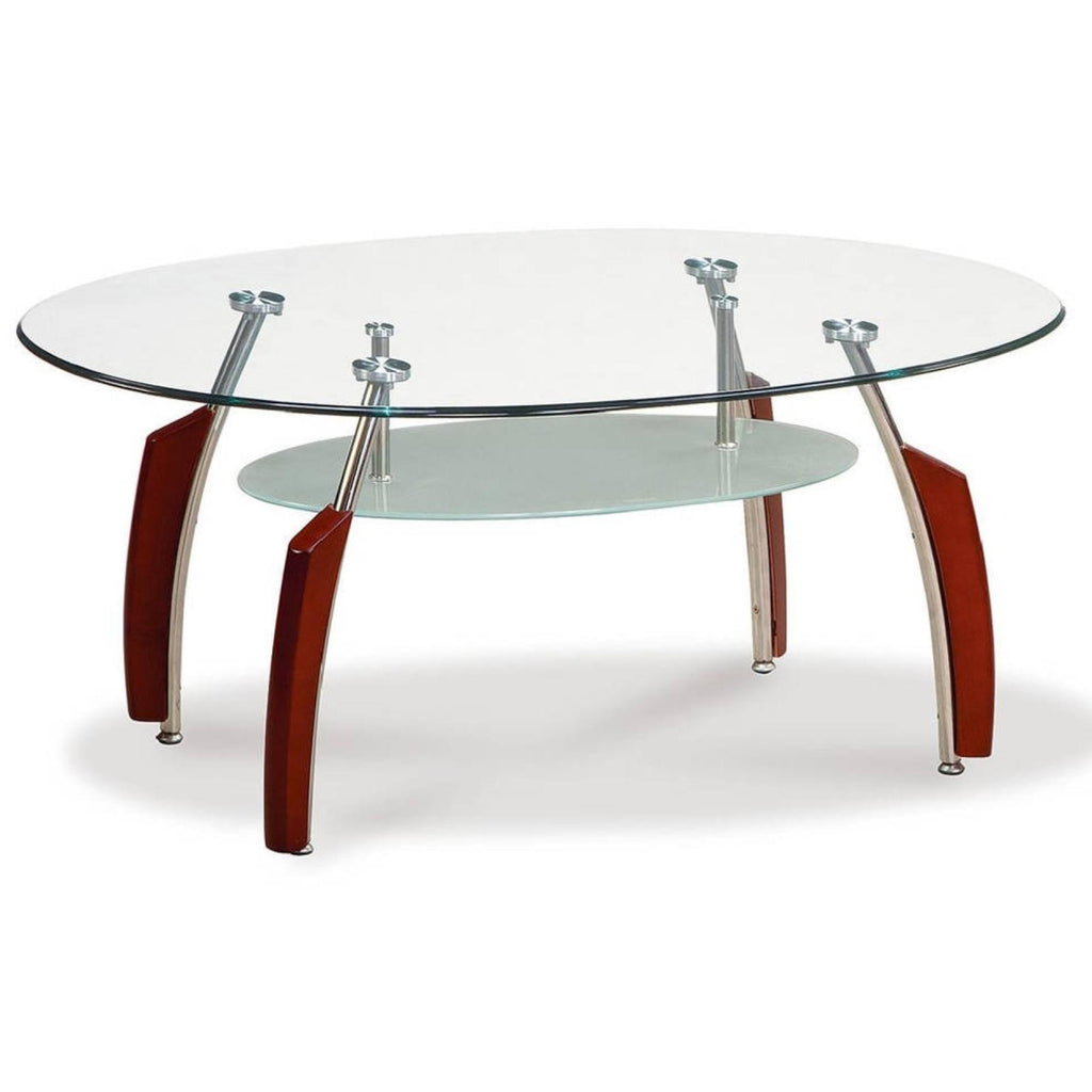 Mahogany & Glass Coffee Table, Occasional Tables, Global Furniture - Adams Furniture