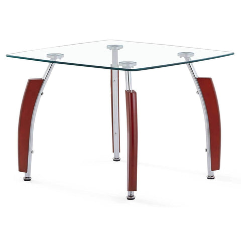 Mahogany & Glass End Table, Occasional Tables, Global Furniture - Adams Furniture