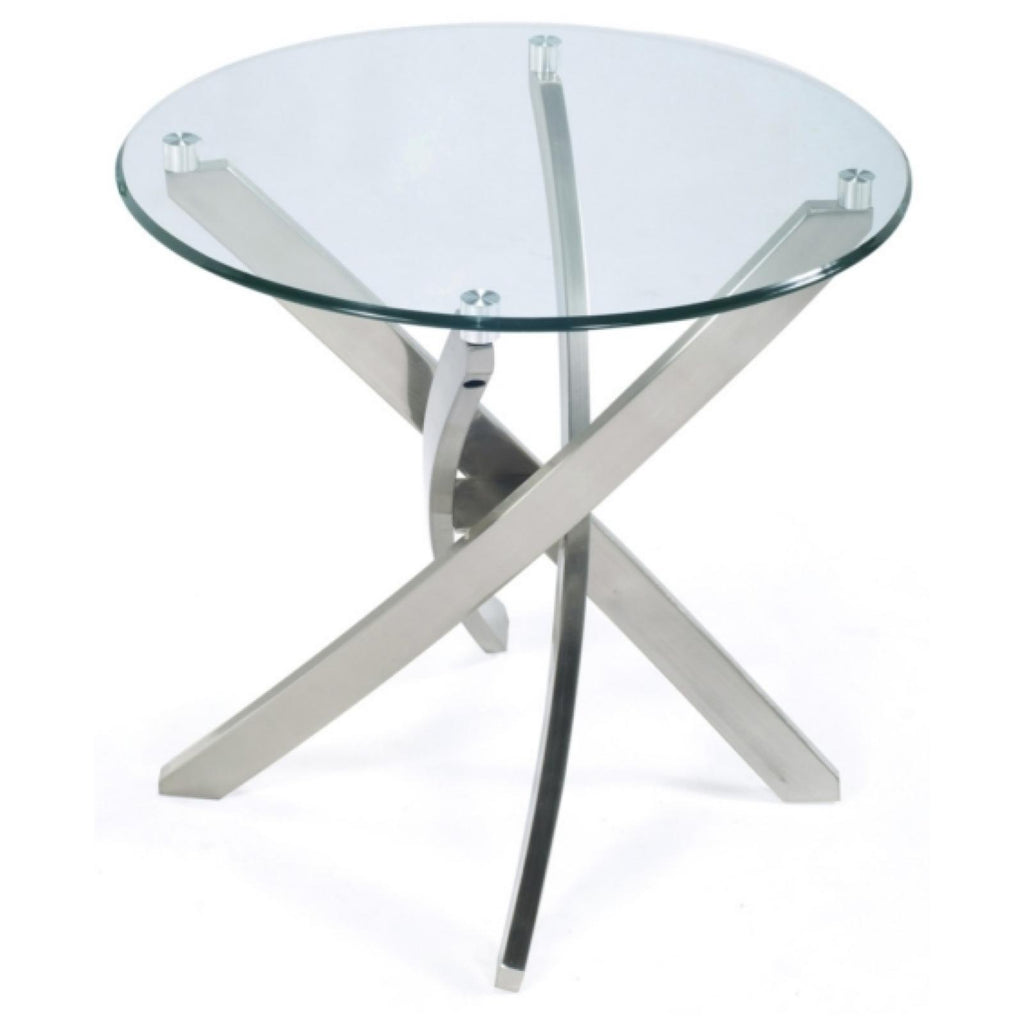 Zila Round End Table, Occasional Tables, Magnussen Home - Adams Furniture
