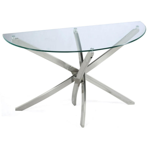 Zila Demilune Sofa Table, Occasional Tables, Magnussen Home - Adams Furniture