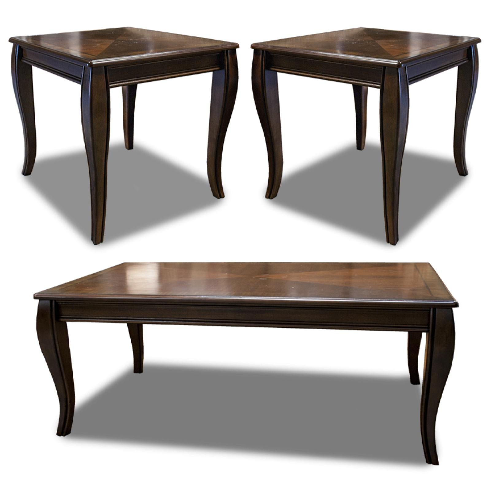 Mattie PC Occasional Table Set - Rectangular cocktail table by ashley furniture