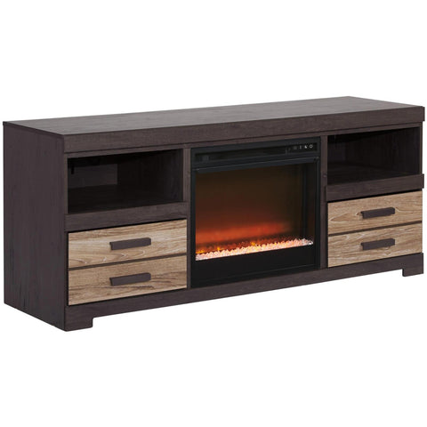 Harlinton Glass/Stone Fireplace TV Stand, TV Stand, Ashley Furniture - Adams Furniture