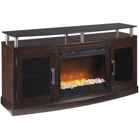Chanceen Glass/Stone TV Stand, TV Stand, Ashley Furniture - Adams Furniture