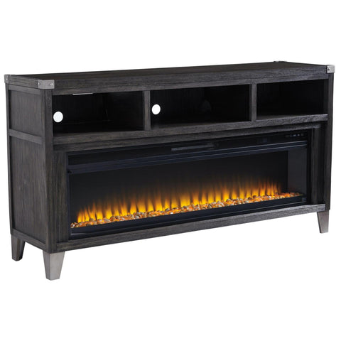 Todoe TV Stand with Electric Fireplace, TV Stand, Ashley Furniture - Adams Furniture