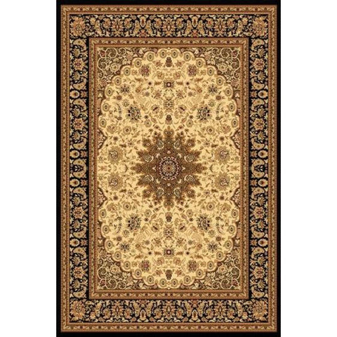Yazd - Cream/Black Area Rug, Rug, Dynamic Rugs - Adams Furniture