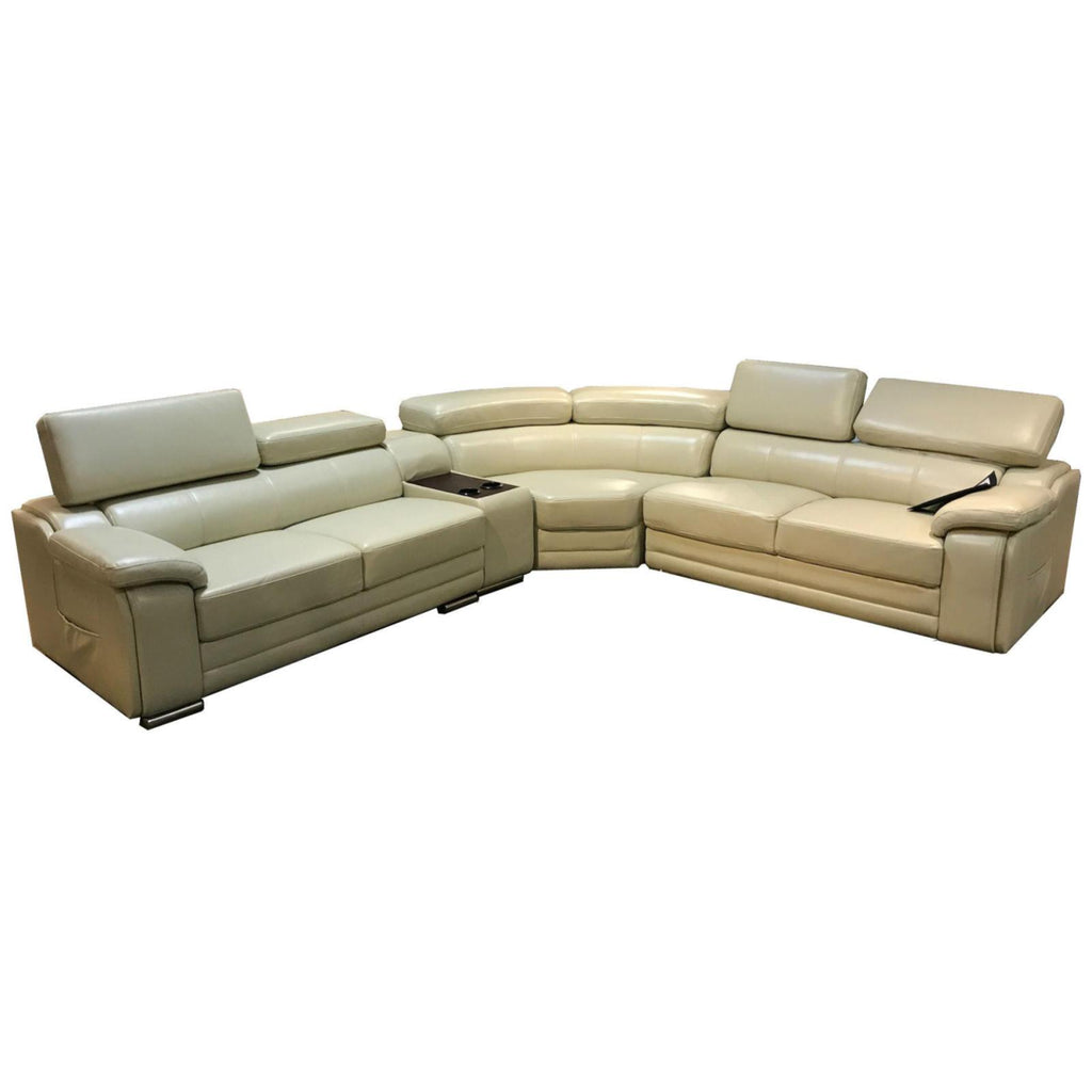 Santana Cream Sectional, Sectional, Grand Gold - Adams Furniture