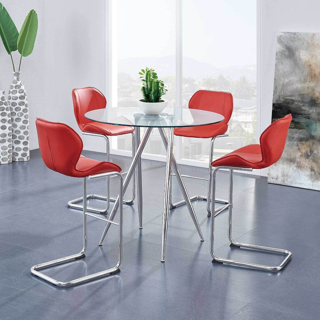 Rio - Red Bar Dining Set, Dining Set, Global Furniture - Adams Furniture