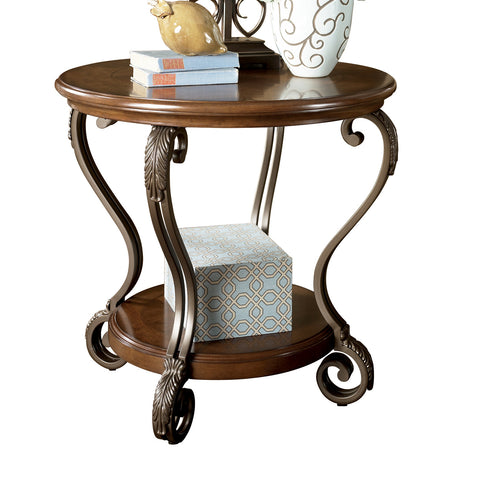 Nestor Round End Table, Occasional Tables, Ashley Furniture - Adams Furniture