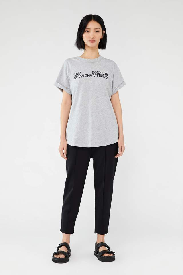 Huntington 2.0 Tee - Grey With Black Logo