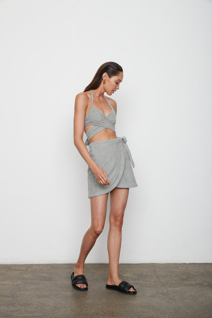The Sahar Skirt - Flint Grey