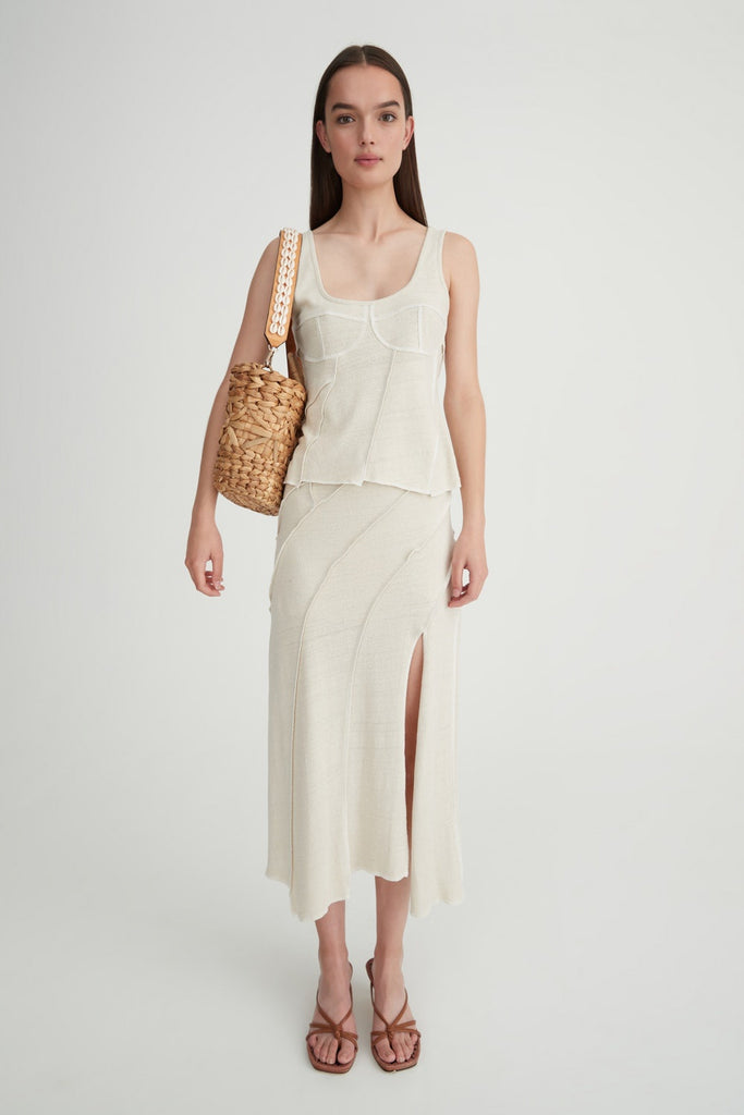 Moloko Skirt - Natural/White