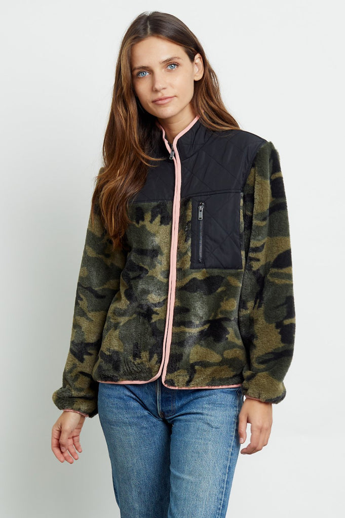 Wesley Jacket - Green Camo Black