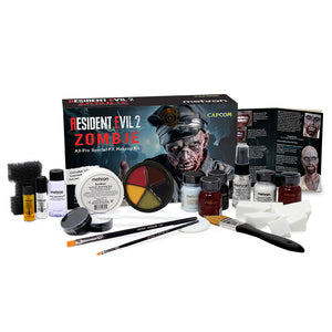 Mehron Resident Evil 2 Zombie All-Pro Makeup Kit (KRE2-Z)