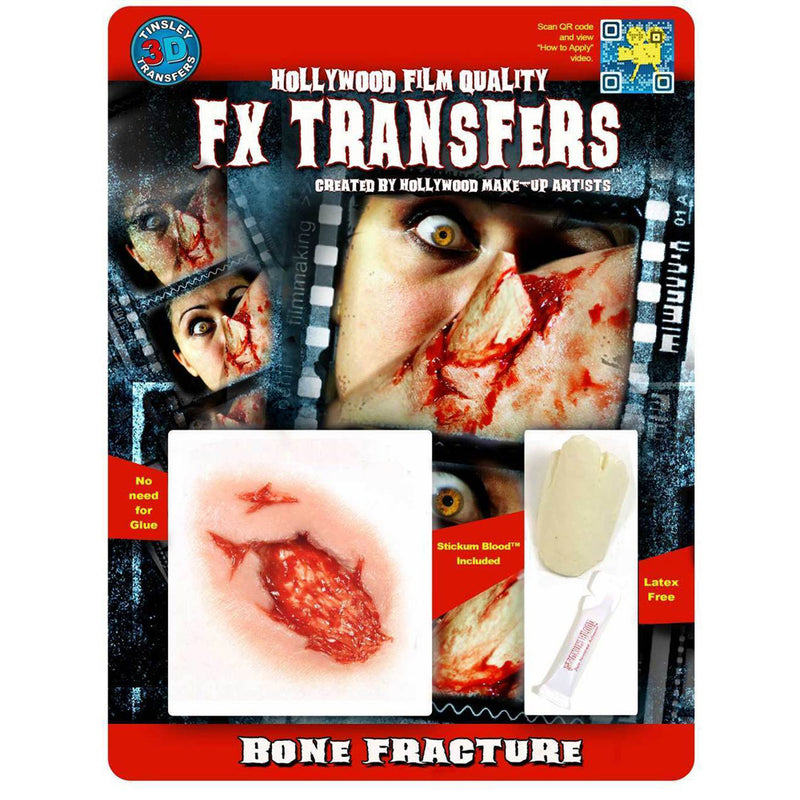 Tinsley Transfers Bone Fracture 3D FX Transfers