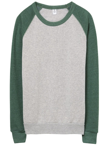 Mens Color Block Eco Fleece Sweater
