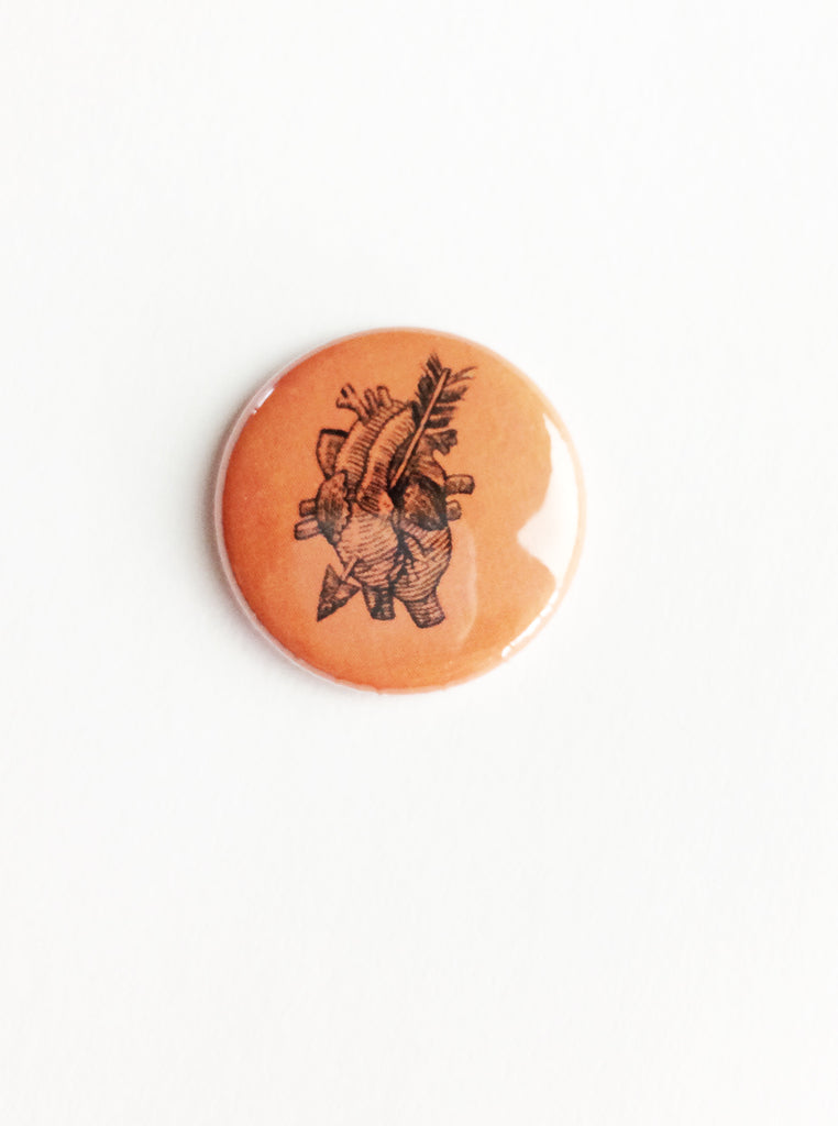 anatomical heart pin back button