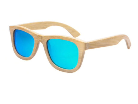 bamboo sunglasses blue lenses