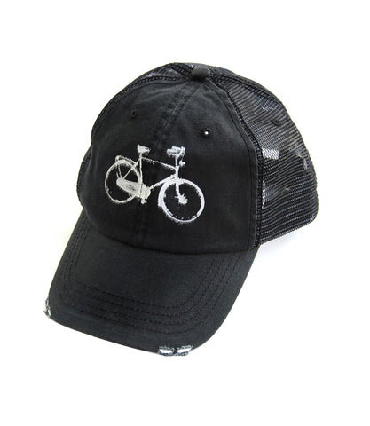 Organic Black Bike Hat