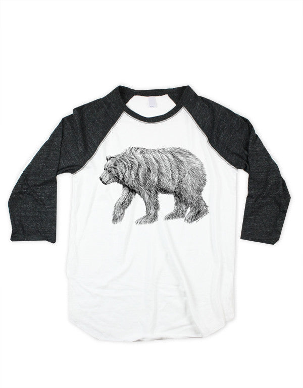 Unisex Bear Baseball Shirt