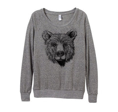 heather grey bear sweater