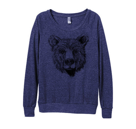 Womens Navy Bear Sweater