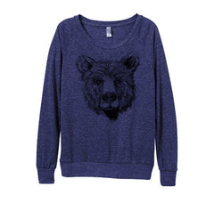 navy blue bear top