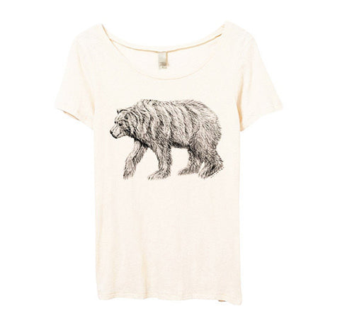 Womens Organic California Bear Tshirt