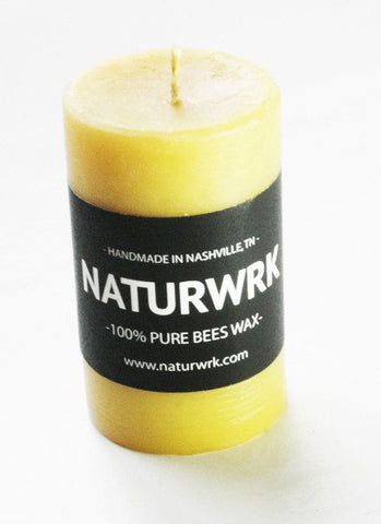 Beeswax Pillar candle 3 inch