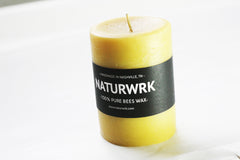 beeswax candle 4 inch pillar