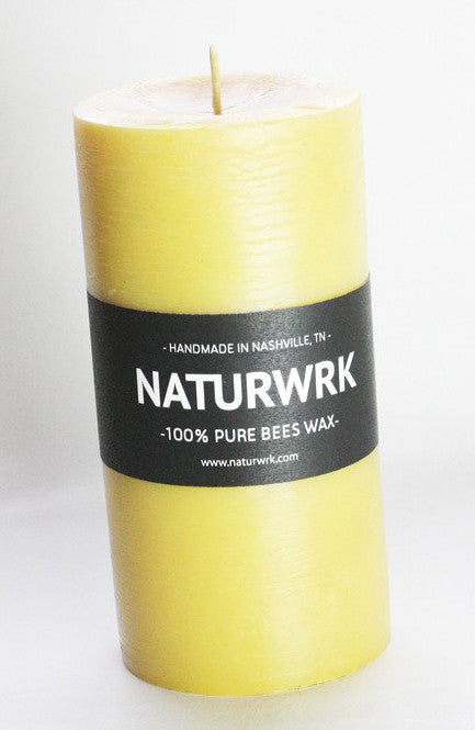 beewax pillar candle 6 in