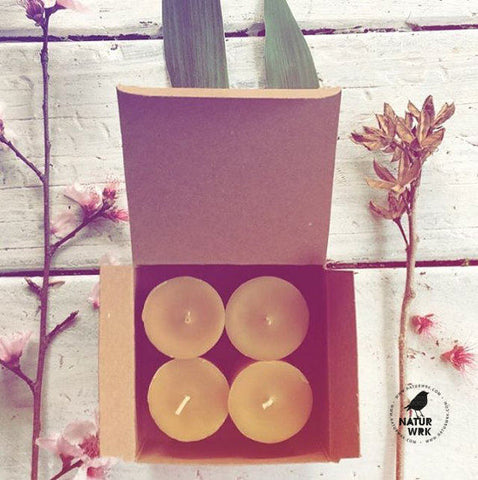 Beeswax votive candle 4 pack