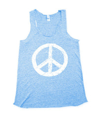 Women's Blue Peace Tank Top
