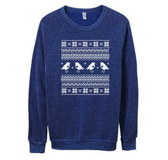 Mens Blue Ugly Christmas Sweater