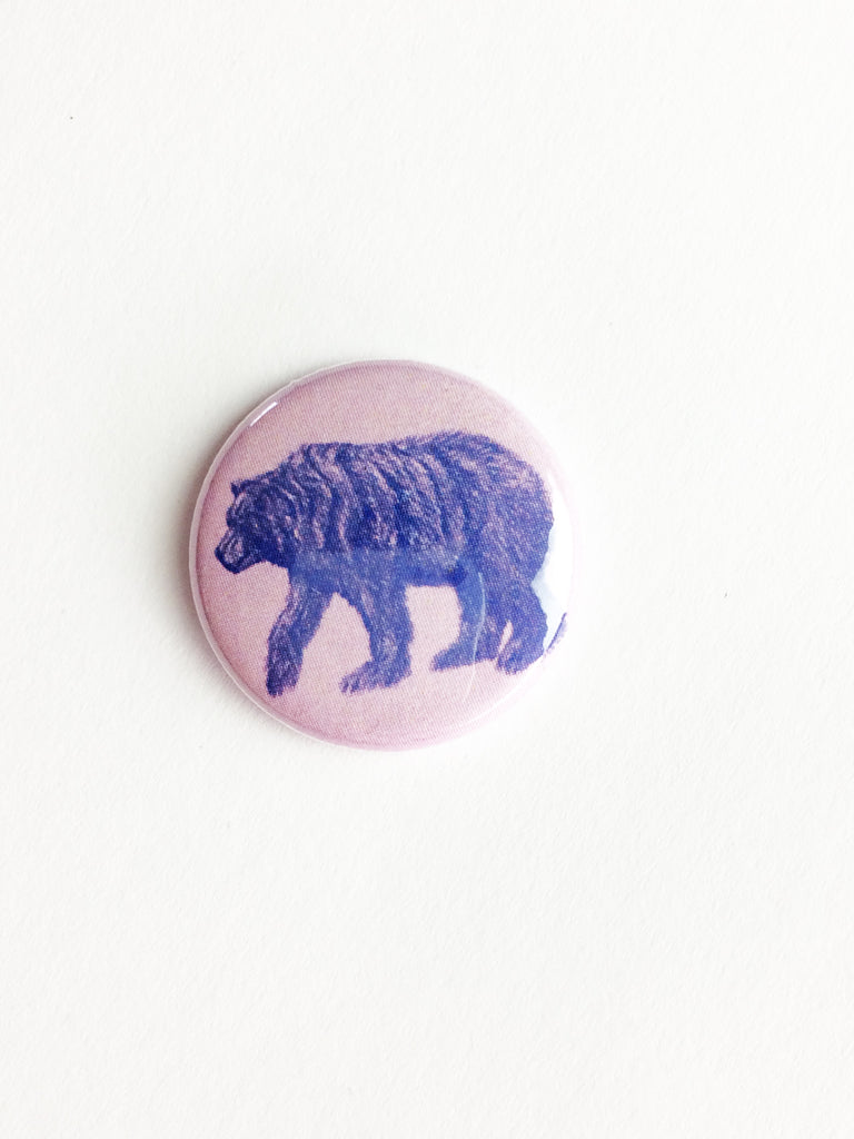 california bear pin button
