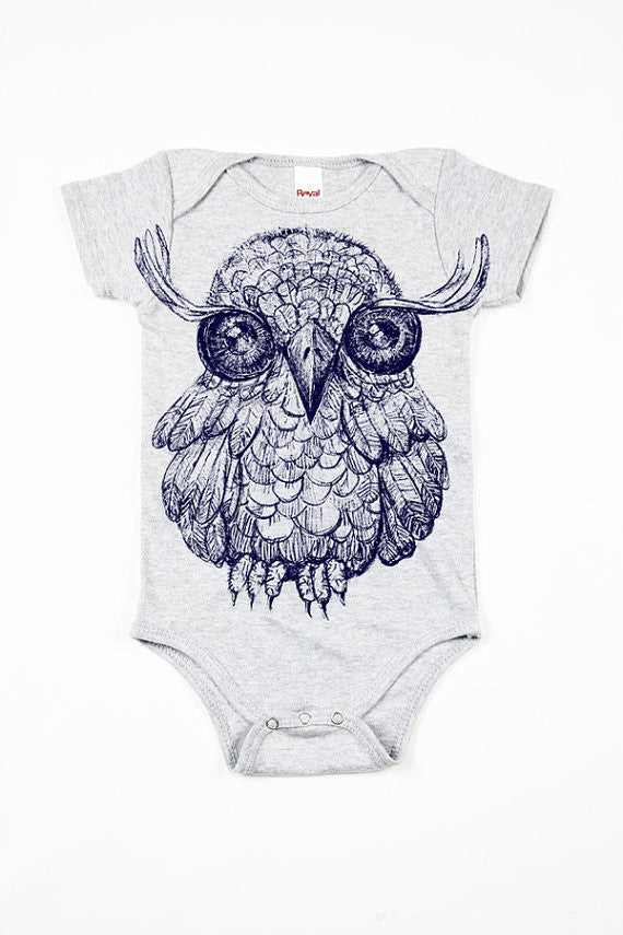 Onesie with Owl Print