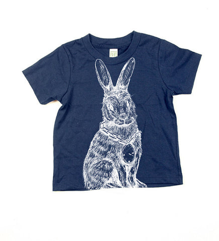 Childrens Navy Rabbit Tshirt