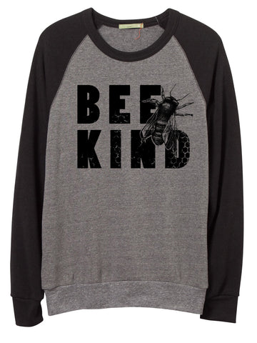 Unisex Bee Kind Color Block Sweatshirt