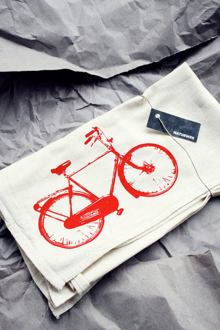 Red Bike Tea Towel
