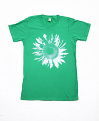 Mens Green Sunflower Tshirt