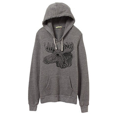 Men's Eco-Heather Moose Pullover Hoodie