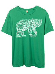 Mens Green Tribal Bear Tshirt