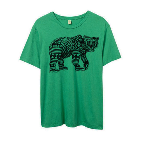 Mens Green Tribal Bear Shirt