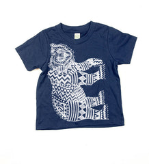 Kids Navy Blue Bear Tshirt